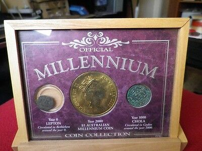 The Millennium Coin Collection Year 0, Year 1000 & Year 2000 Coins. Display Case