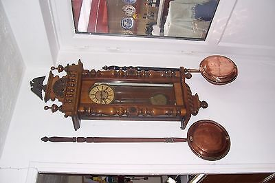 Large attractive victorian wall clock