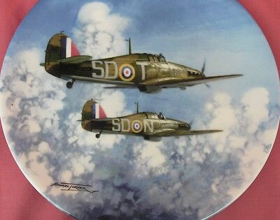 Coalport Flight Through The Clouds Hurricane Plate Reach For The Sky Mint In Box