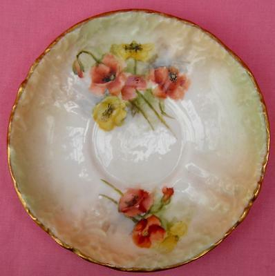 Nautilus Porcelain Poppy Poppies Saucer Possil Pottery Hand Painted
