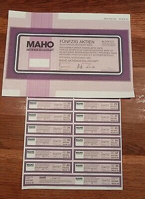 MAHO AG  Dez. 1992 * 50 DM * mit Coupons