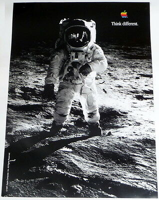 APPLE POSTER *THINK DIFFERENT * BUZZ ALDRIN * 28/20 inches MINT Steve Jobs