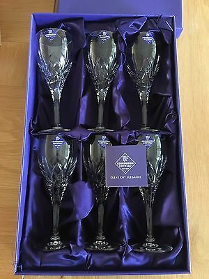 """6x Edinburgh Crystal 7"""" Broughton Wine Glasses Excellent Condition Never Used"""