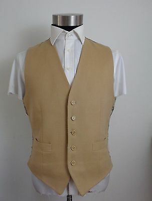 Vintage Austin Reed Brush wool and cashmere beige waistcoat 40R