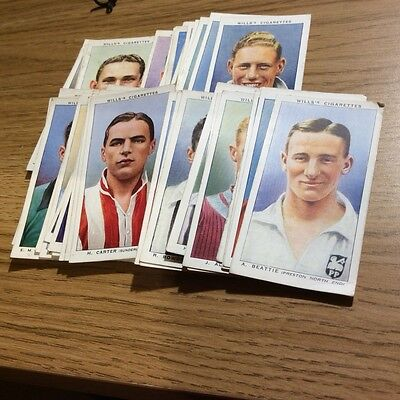 WILLS 1935 cigarette tobacco cards ASSOCIATION FOOTBALLERS with frame