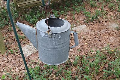 Vintage Galvanized Metal Water Can, Country Primitives,  Country /Yard Decor