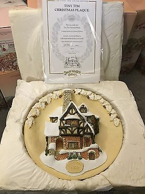 DAVID WINTER TINY TIM CHRISTMAS PLAQUE 1996 Limited Edition w/Certificate 1434