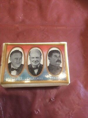 WW2 Allied Leaders Matchbox Cover