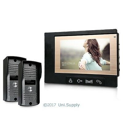 Wired Video Door Phone Audio Visual Intercom Entry System 2V1 For Villa House