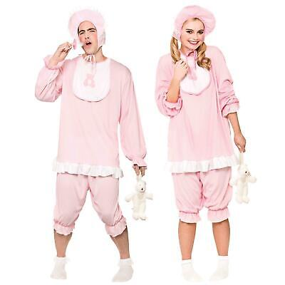 Adult Funny Pink Sleepsuit Sleep Suit Baby Romper Grow Fancy Dress Costume