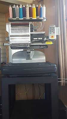 Melco Bravo embroidery machine 16 needle/color