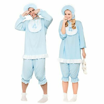 Adult Funny Sleepsuit Sleep Blue Romper Cry Baby Grow Stag Fancy Dress Costume