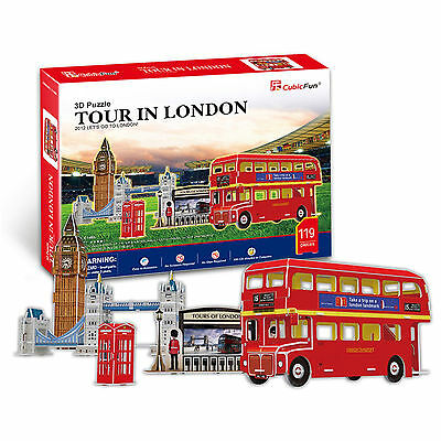 3D Jigsaw Puzzle Scale Model DIY Toy Decoration Monument Tour In London England
