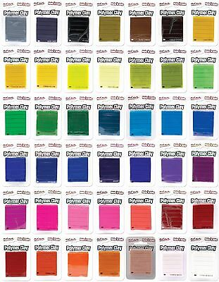 Make n Bake Polymer Clay 60g Pack Single Colour Mont Marte - Choose your colours