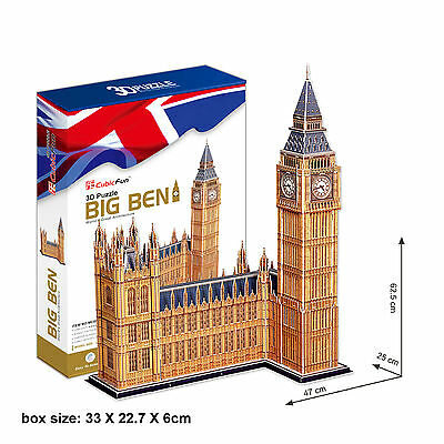 3D Jigsaw Puzzle Scale Model DIY Toy Monument Big Ben Clock Tower London England