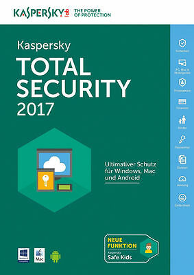 KASPERSKY TOTAL SECURITY 2017 5 PC / Geräte / 1 JAHR | DOWNLOAD | NO CD
