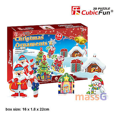 3D Jigsaw Puzzle Scale Model DIY Toy Decoration Christmas Holiday Ornaments