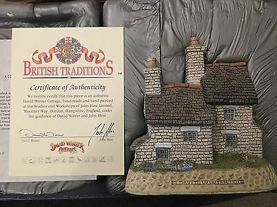 DAVID WINTER STONECUTTERS COTTAGE-FEBRUARY 1989 Signed Certificate