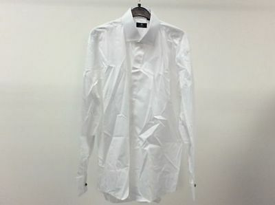 Mens White Standard Plain Tuxedo Wedding Formal Dinner Dress Shirts