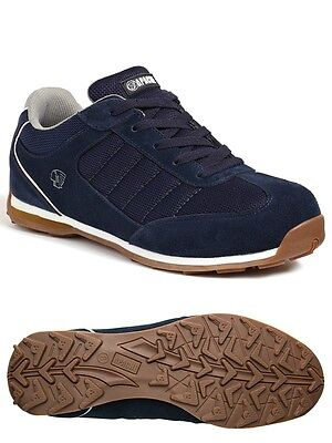 Apache Mens / Womens Strike Safety Steel Toe Cap Work Trainers 6-12 Uk Navy Blue