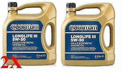 Quantum Longlife 3 5W-30 Fully Synthetic Engine Oil 2x 5 Litre Bottles 10 Litres