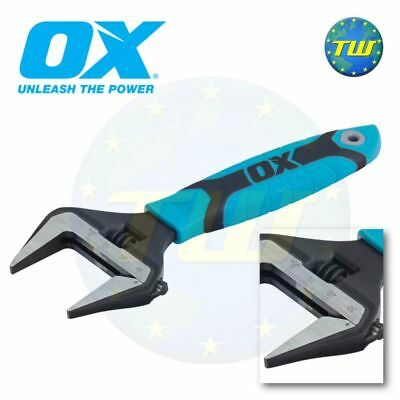 OX Tools Pro 6in Adjustable Wrench 150mm Spanner & Extra Wide 34mm Jaw P324606