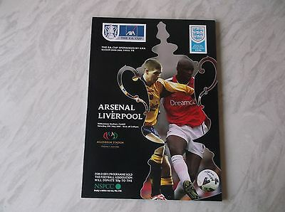 Arsenal Vs. Liverpool. F.a. Cup Final 2001. Excellent Condition Programme.