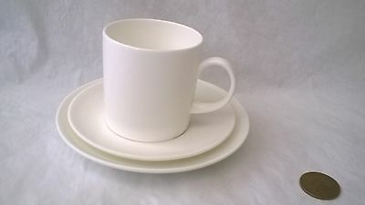 Wedgwood Solar White Demitasse Coffee Cup And Saucers