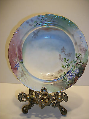 Haviland & Company Antique French 1902 Handpainted Bowl Minty