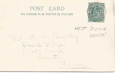 WEST DOWN SOUTH FIELD POST CANCEL ON KING EDWARD VII ½d GREEN 1903 REF 351