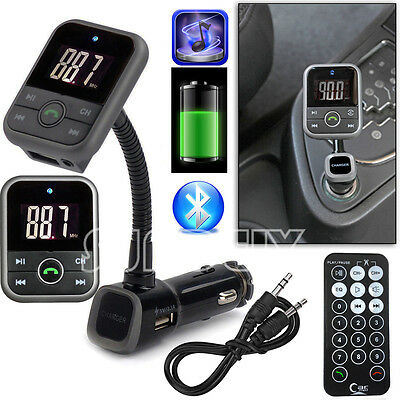 Car Kit Wireless Bluetooth FM Transmitter Handsfree USB/SD LCD Remote MP3 Player