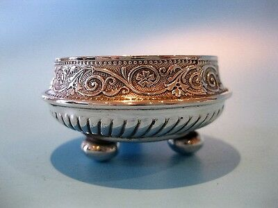 Beautiful Little Antique Silver Plated Open Salt Cellar by William Marples & Son