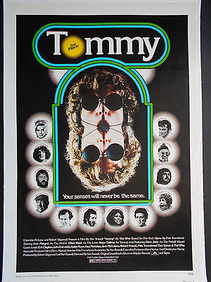 THE WHO, TOMMY Poster 1975 Linen-backed Roger Daltrey Pete Townshend Elton John