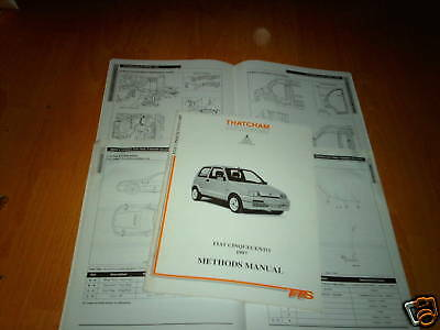 Body Repair Manual Fiat Cinquecento 1997 on