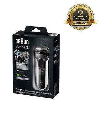 Braun 3020 Cordless Rechargeable Electric Shaver for Men *2 Year Warranty* New