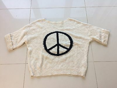 Knitted Peace Sweater Oversize 10-12