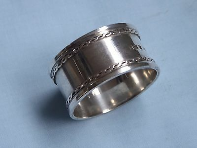 Sterling Silver Napkin Ring London 1932 Very Heavy 43g