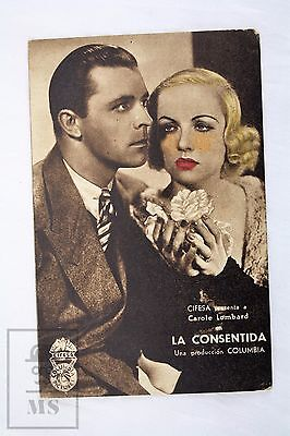 No More Orchids -Carole Lombard, Lyle Talbot, Walter Connolly 1932 Movie Leaflet