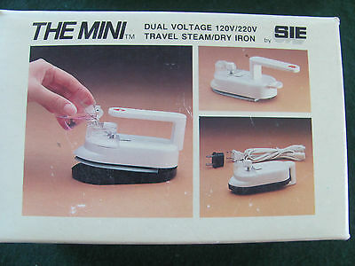 The Mini Dual Voltage 120/220V Travel Steam/dry Iron By Sie