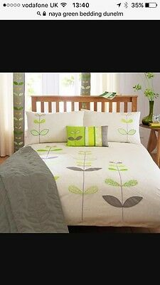 Bedding Set Curtains And Cushions Green Beige Cream