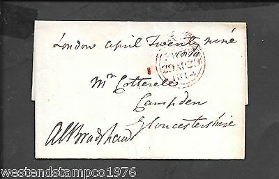 Gb 1814 Wrapper Crown Free To Campden Goucestershire. Wax Seal