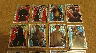 Star Wars 212 Topps Stickers - 2015 Force Awakens Set. Hammil Ford Fisher Vader
