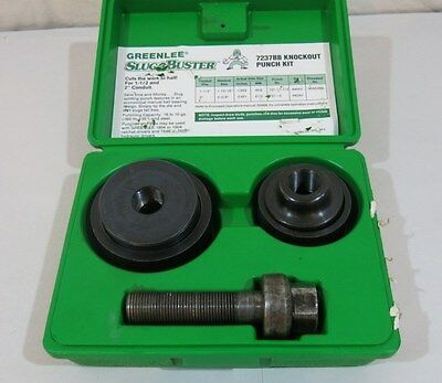 "Greenlee Knockout Mechanical Punch Set 1.5"" 2"" 7237BB Electrician Slug Buster"