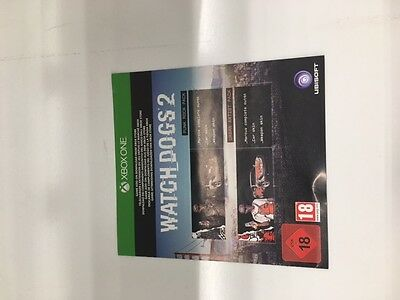 WATCH DOGS 2 SAN FRANCISCO Collectors Edition xbox one PUNK STREET THEME CODES