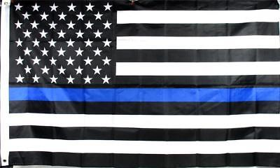 Thin Blue Line American Police Flag 3' x 5' Support Our Law Enforcement USA B-7
