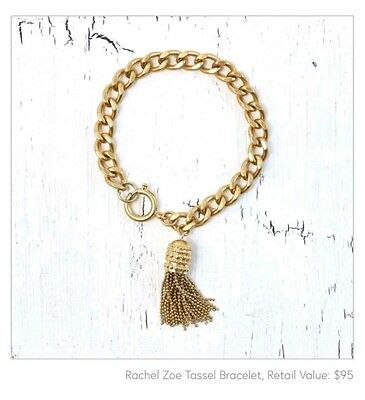 NWT Rachel Zoe Box of Style Gold Tassle Bracelet  -SOLD OUT everywhere