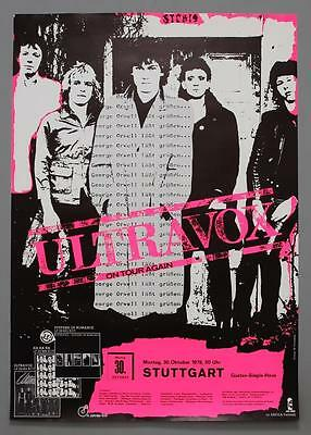 ULTRAVOX - mega rare original Germany 1978 Systems of Romance concert poster