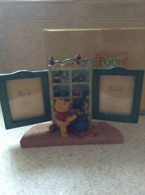 Disney Store Simply Pooh Double Photo Frame Bowed