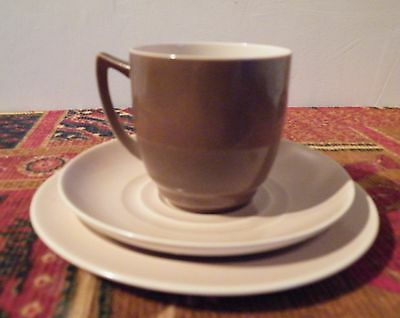Vintage Branksome Trio, Cup, saucer and plate by Ernest Baggaley, Twin Tone