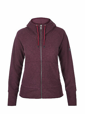 Berghaus Womens Carham Fleece Hoodie Jumper Jacket in Dark Purple **RRP £60**
